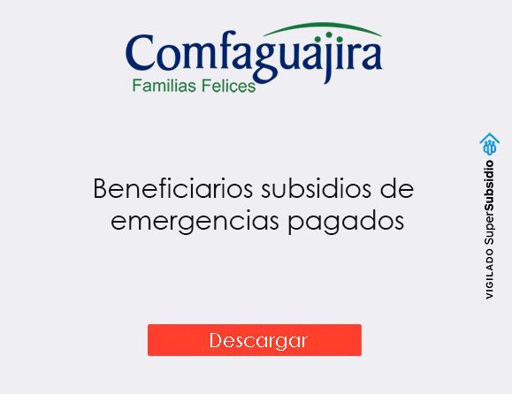 Beneficiarios subsidios de emergencias